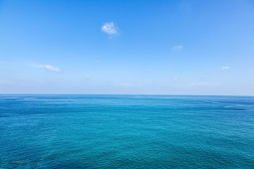 Fototapete - Sea and sky. Natural blue background