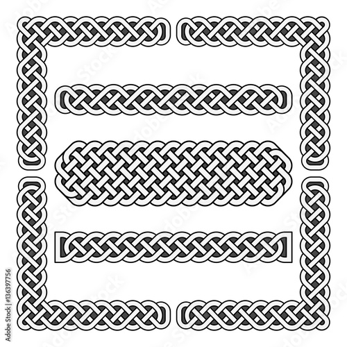 Quot Celtic Knots Vector Medieval Borders And Corner Elements
