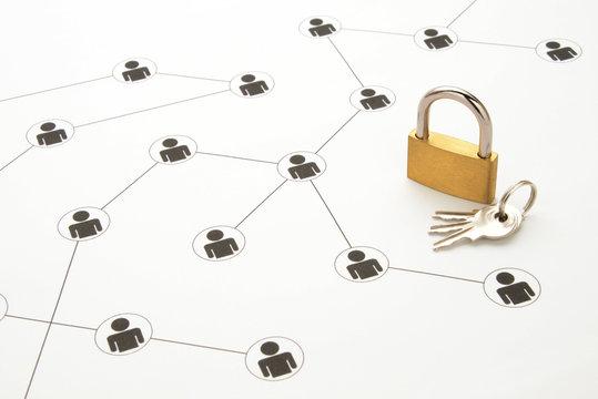 ソーシャルネットワークイメージ―情報の保護