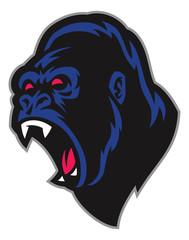 angry gorilla mascot