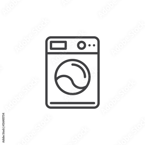 washing machine line icon outline vector sign linear. Black Bedroom Furniture Sets. Home Design Ideas