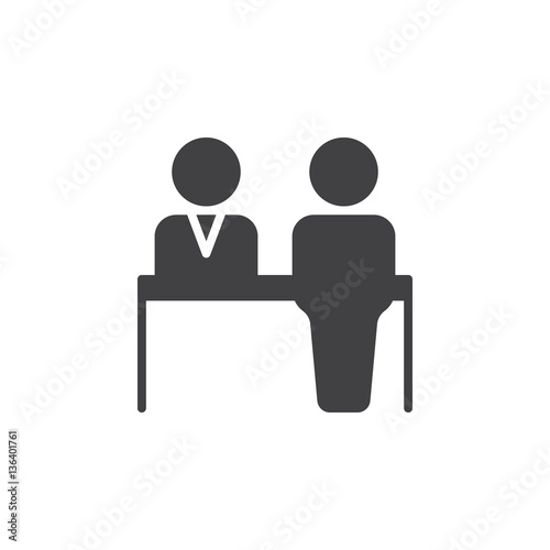 Reception Icon Vector Filled Flat Sign Solid Pictogram Isolated On