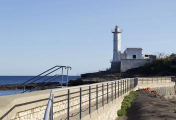 lighthouse in ventotene