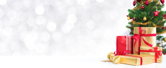 Christmas panoramic banner background