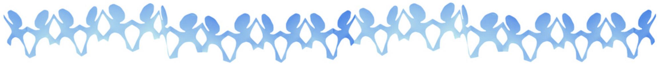ribambelle bleue, fond blanc