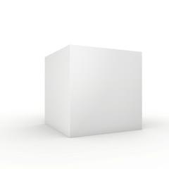 Blank box on white background. 3d render.