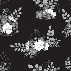 Creative card with geometric contour crystal