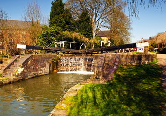 A lock on the Grand Union Canal in Hertfordshire