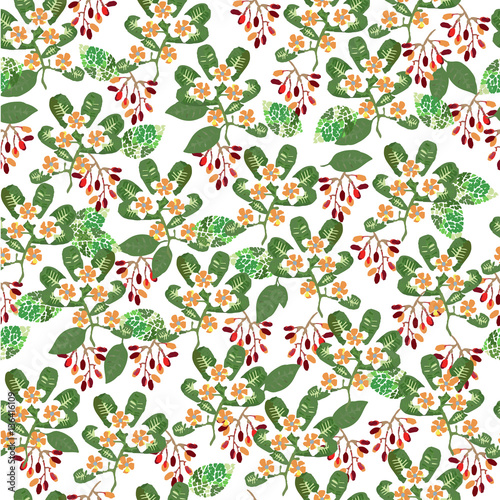 """Vintage Provence Und Shabby Chic Im: """"Cute Simple Pattern With Wildflowers. Shabby Chic"""