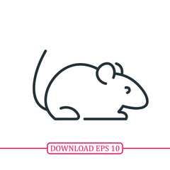 Mouse animal icon vector