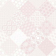 Pink seamless patternwith oriental motif.