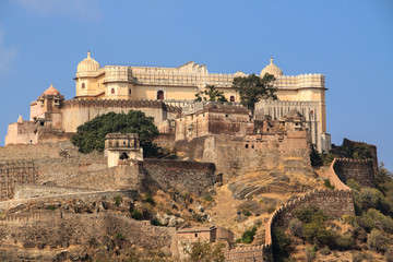 Panoramic view of Fort Kumbhalgarh, India