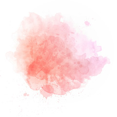 Salmon pink watercolor splash