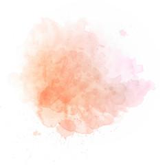 Salmon pink watercolor splash
