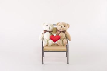 귀여운 커플 곰인형