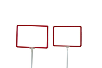 Red rectangular frame on the front for writing ads