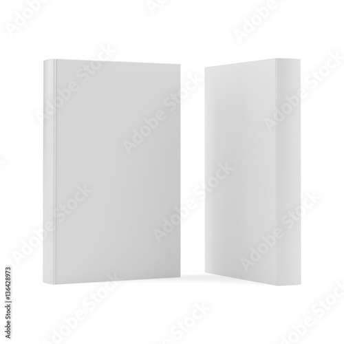 blank two book cover template on white background 3d rendering stock photo and royalty free. Black Bedroom Furniture Sets. Home Design Ideas