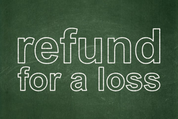 Insurance concept: Refund For A Loss on chalkboard background