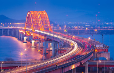 Banghwa bridge in Korea ,South Korea