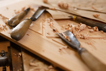 Carpenter tools on the crafting table