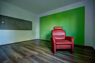 Wohnzimmer Mit Fernsehsessel