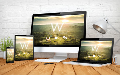 Wall Mural - responsive theme screen multidevices