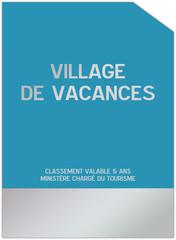 Plaque  pour les villages de vacances
