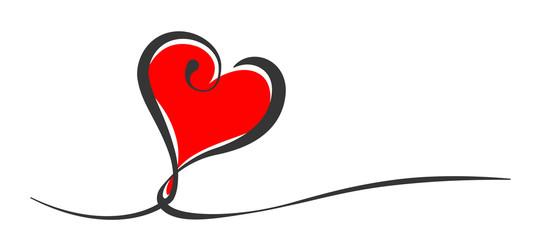 Herz Liebe Design Element Schwung Banner