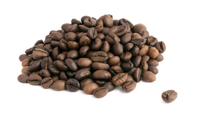 Heap of Roasted Coffee Beans Isolated