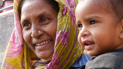 Poster Lieu connus d Asie Indian Mum with her son