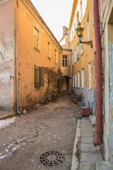 Small old corner street