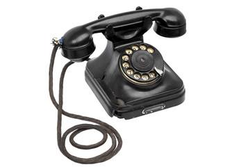 Старый черный телефон