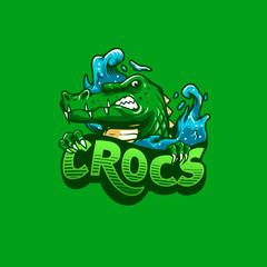 Crocodile mascot logo