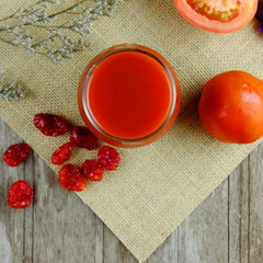 Healthy of tomato juice.