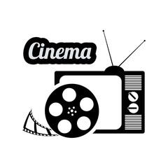 cinema television film reel vintage home vector illustration eps 10