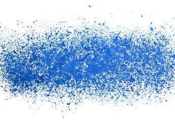 Blue sprayed stripe