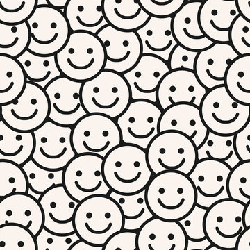 Smile Face Seamless Pattern