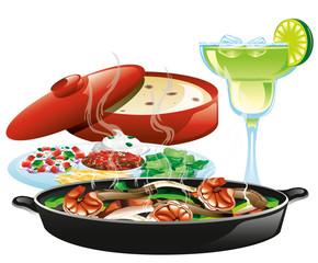 Mexican fajita meal