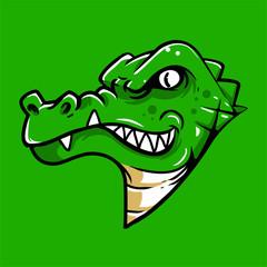 crocodile head mascot logo