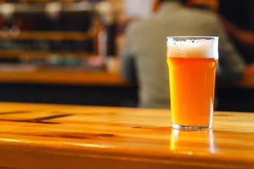 Pale ale in a pub