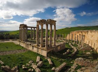 Poster de jardin Tunisie ancient Roman ruins in Tunisia, northern Africa