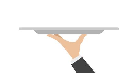 waiter tray with hand