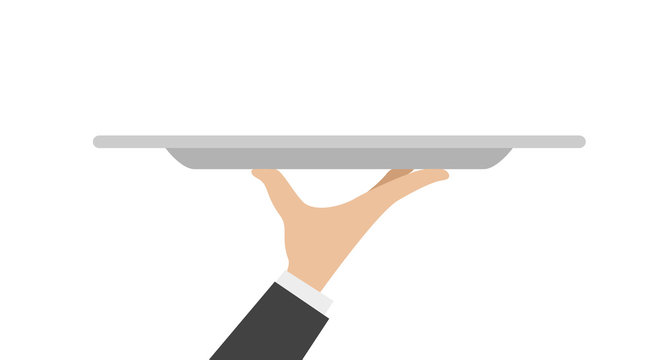 waiter tray with hand