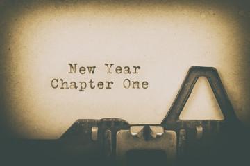 Neuanfang - Konzept - Neues Jahr