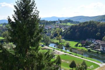 Krka River in Zuzemberk, Slovenia