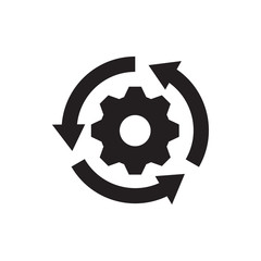 gear rotate icon illustration