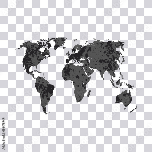 World map isolated on transparent background earth modern grunge world map isolated on transparent background earth modern grunge world map vector gumiabroncs Images