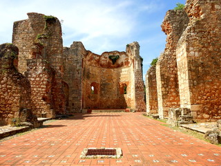 Old historical ruins of building on Santo Domingo, Dominican Republic