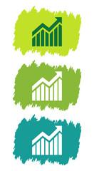 Logo données statistiques.