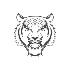 Tiger animal face icon - Illustration